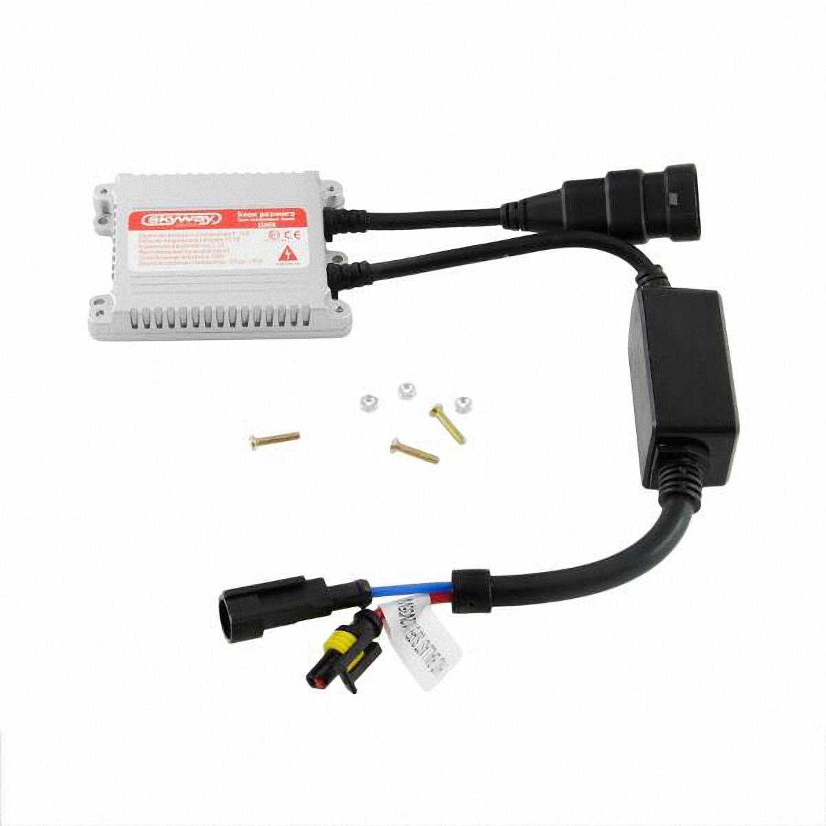 Блок розжига Skyway, для ксеноновых ламп Xenon. HID BALLAST SUPER SLIM 12V35WHID BALLAST SUPER SLIM 12V35WБлок розжига Skyway - преобразователь напряжения для ксеноновых ламп.Технические характеристики:рабочий диапазон питающих напряжений: 9-16 В DC; напряжение для запуска лампы (выходное с блока) 23000 В; номинальное рабочее напряжение питания: 13,2 В; номинальный ток потребления: 3,2 А; выходная мощность: 35 Вт; диапазон рабочих температур: от -40°С до +105°С; защита от обратной полярности; защита от подключения без ксеноновой лампы; защита от короткого замыкания; защита от перенапряжения; защита от низкого напряжения. Комплектация: блок розжига - 1 шт. гарантийный талон - 1 шт.
