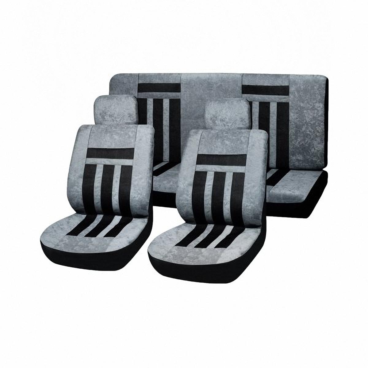 Чехлы автомобильные Skyway. SW-111034 BK/GY/S01301007SW-111034 BK/GY/S01301007Вам не хватает уюта и комфорта в салоне? Самый лучший способ изменить это – «одеть» ваши сидения в чехлы SKYWAY. Изготовленные из прочного материала они защитят ваш салон от износа и повреждений. Более плотный поролон позволяет чехлам полностью прилегать к сидению автомобиля и меньше растягиваться в процессе использования. Ткань чехлов на сиденья SKYWAY не вытягивается, не истирается, великолепно сохраняет форму, устойчива к световому и тепловому воздействию, а ровные, крепкие швы не разойдутся даже при сильном натяжении.