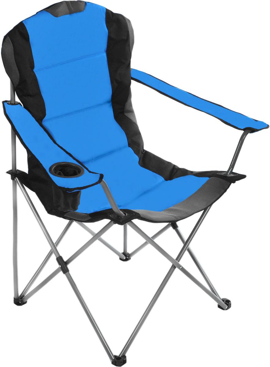 Кресло складное Green Glade, цвет: синий, 60 х 66 х 50/95 см ваза mughal l 20 х 20 х 30 см