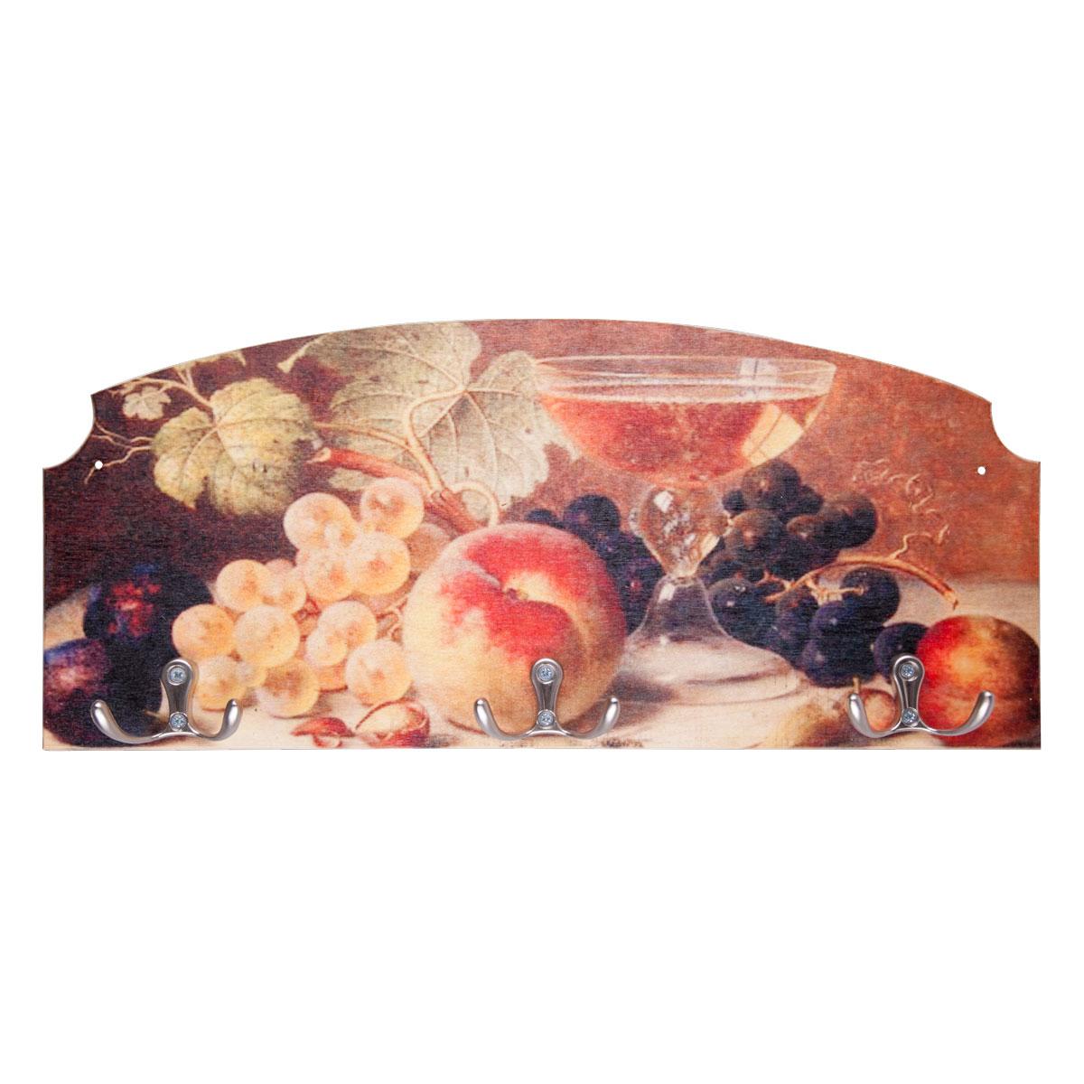 Вешалка-ключница Miolla Фруктовый сад, 37,5 х 16,5 см ключницы miolla вешалка ключница угощение