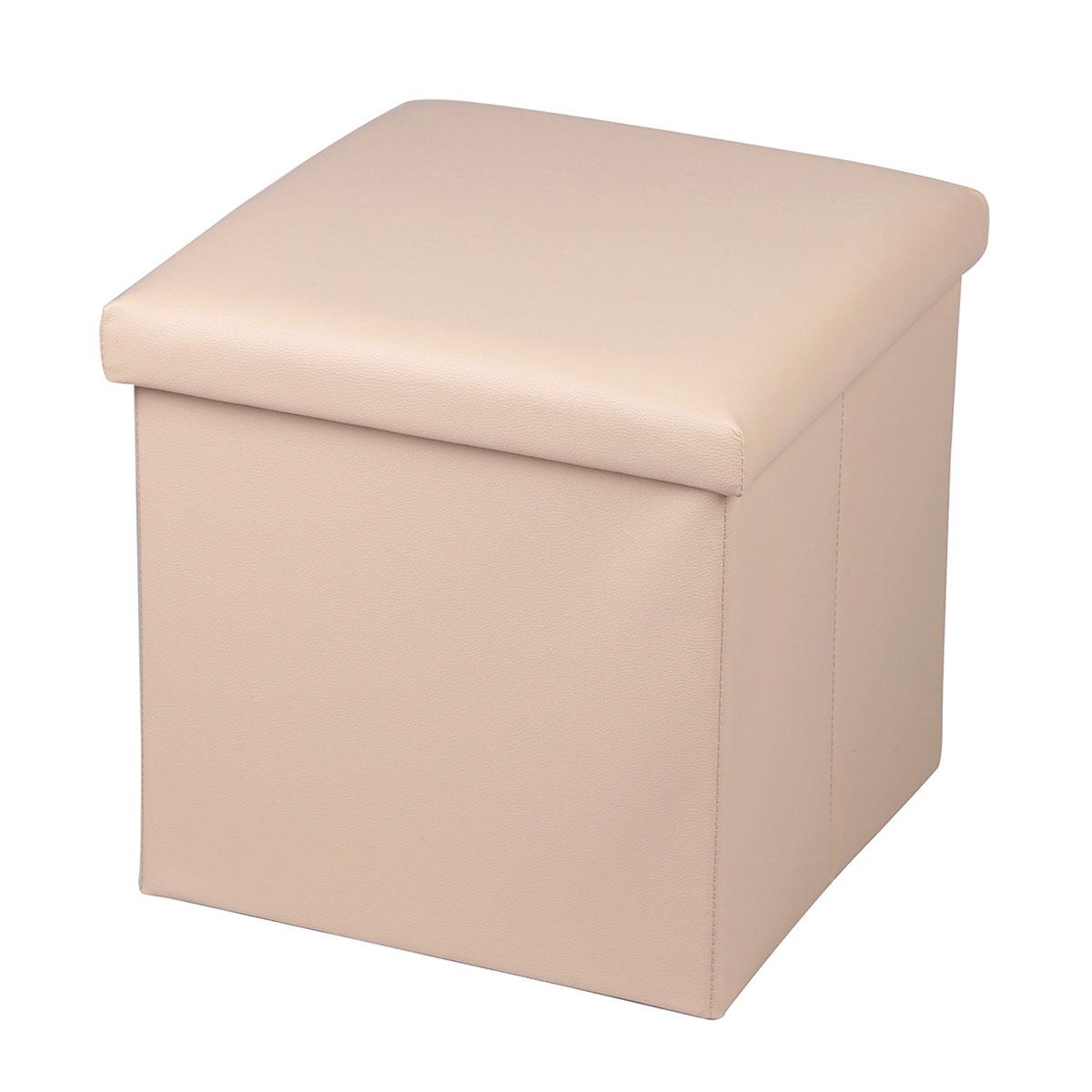 Пуф-короб для хранения Miolla, цвет: бежевый, 38 х 38 х 38 смPSS-LM1Пуф-короб для хранения Miolla - удобный, компактный и стильный предмет интерьера. Изделие отличает актуальный дизайн и многофункциональность. На пуфе комфортно сидеть - он выдерживает вес до 100 кг. Верхняя часть пуфа представляет собой съемную крышку, внутри можно хранить небольшие предметы домашнего обихода. Оптимальные размеры куба позволяют хранить внутри множество мелочей, которые так трудно собрать воедино в маленькие контейнеры. Пуф-короб складной, благодаря чему его удобно хранить и перевозить. Лаконичный однотонный дизайн подойдет практически к любому интерьеру.