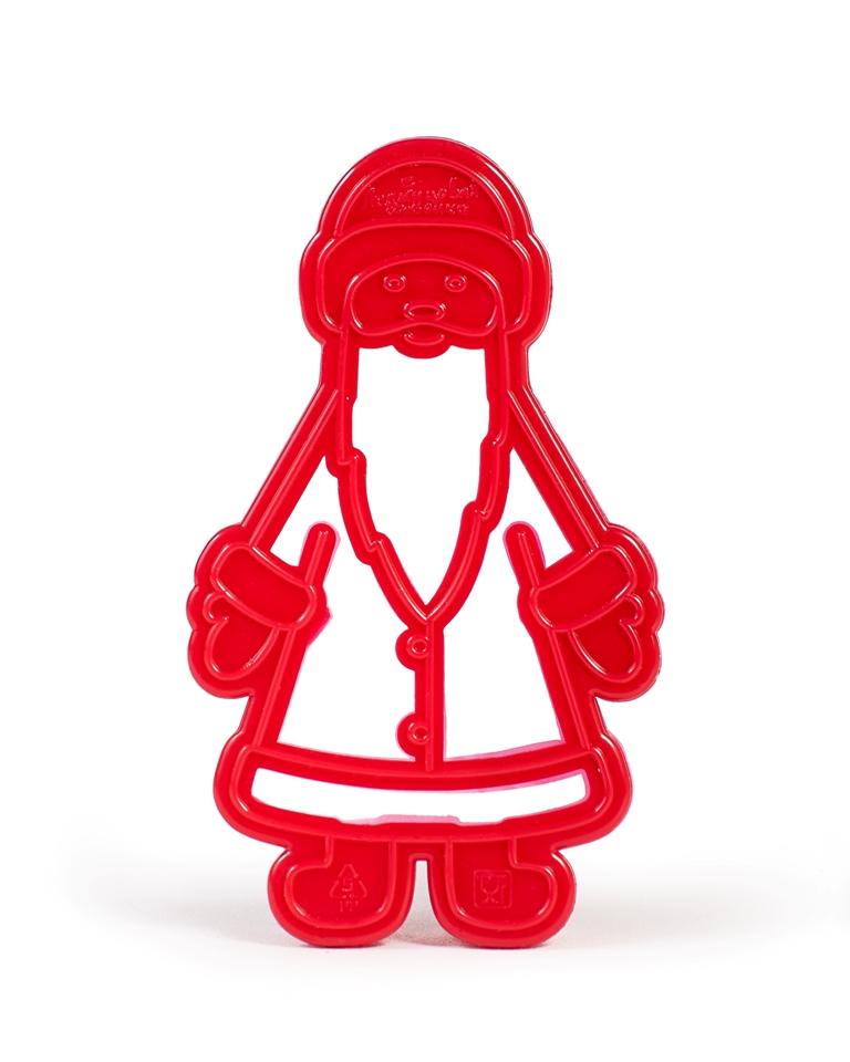 Форма для печенья Леденцовая фабрика Дед МорозВ02Форма для вырезки теста из серии Новогодняя сказка в форме Деда Мороза выполнена из полипропилена. Особенность формы - двухуровневая. Делается обрезка контура на тесте и отпечатки лица, бороды, одежды.Формочки для печенья поместите на предварительно раскатанное тесто и оттисните узор. Снимите форму, и вы увидите не только контур печенья, но и красивый внутренний рисунок. Попробуйте также украсить печенье уже по готовому рисунку. Печенье получается красочным и праздничным! Готовьте вместе с детьми!