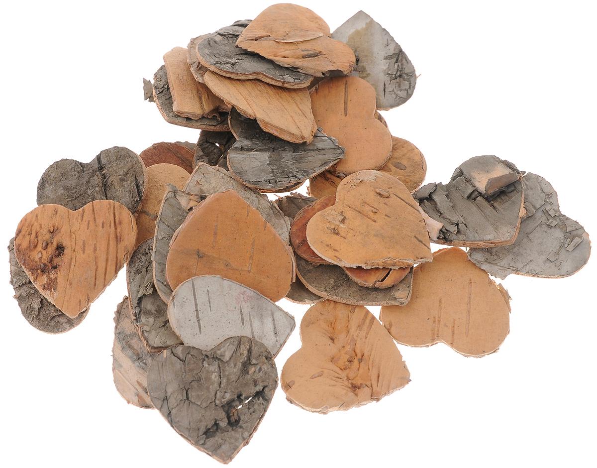 Декоративный элемент Dongjiang Art Сердце, цвет: натуральное дерево, 30 шт7709002_натуральное деревоДекоративный элемент Dongjiang Art Сердце, изготовленный из натуральной коры дерева, предназначен для украшения цветочных композиций. Изделие можно также использовать в технике скрапбукинг и многом другом. Флористика - вид декоративно-прикладного искусства, который использует живые, засушенные или консервированные природные материалы для создания флористических работ. Это целый мир, в котором есть место и строгому математическому расчету, и вдохновению.