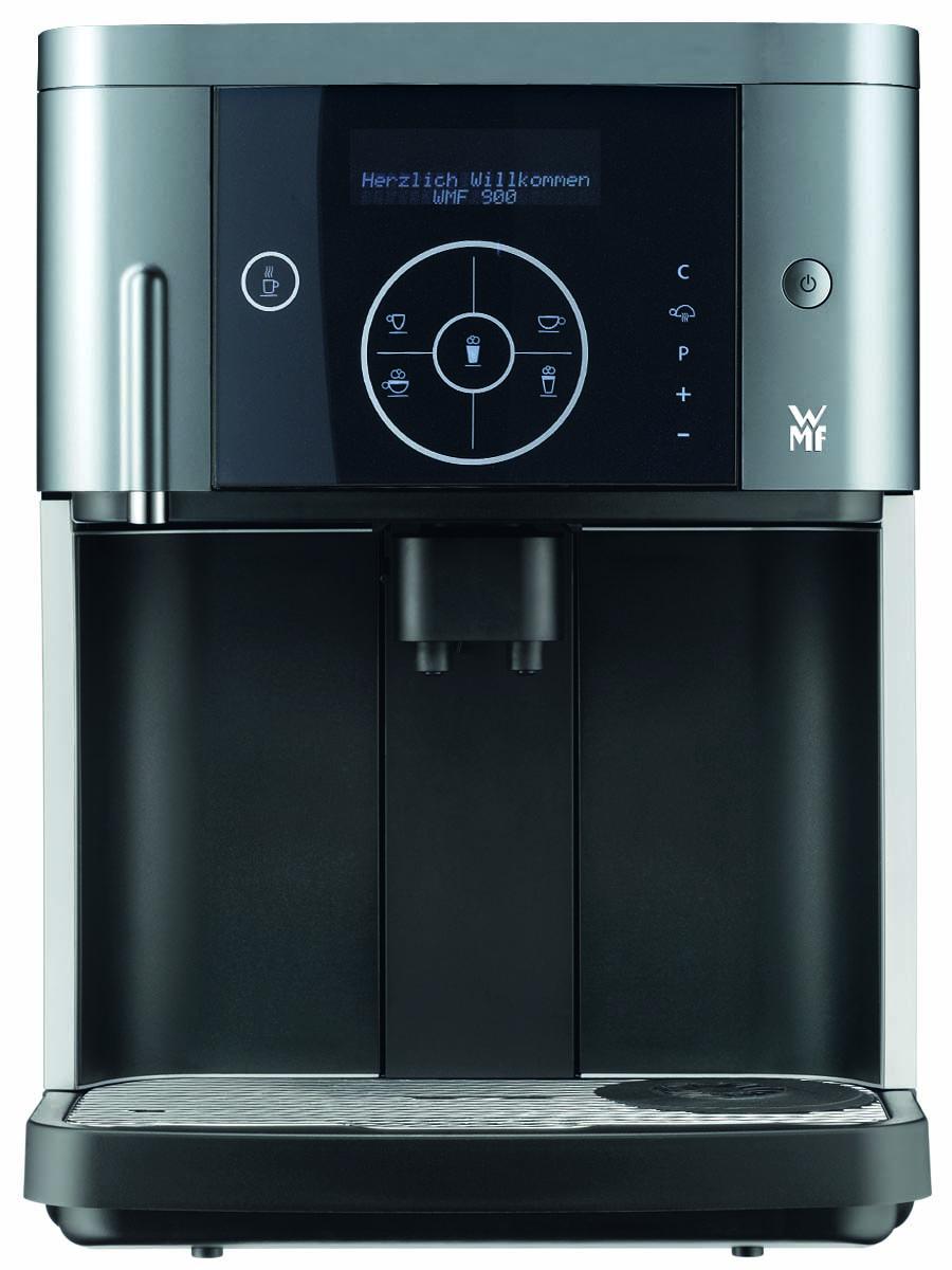 WMF 900 S кофемашина900 S (03.0400.1021)Внешний вид кофемашины WMF 900 S завораживает с первого взгляда. Великолепная черная сенсорная панель позволяет легко управлять машиной и значительно снижает стоимость обслуживания.Узнав машину поближе, вы обнаружите профессиональные черты в каждой детали. Правильно подобранные функции и надежность технологий WMF обеспечивают отличную работу при постоянном ежедневном использовании машины.Рекомендованная производительность, в день - до 35 чашек.Емкость для отходов кофе - около 20 порций.Просвет - 67-141 мм.