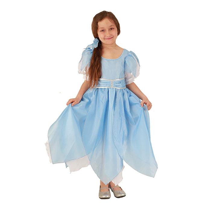 Карнавальный костюм для девочки Вестифика Дюймовочка, цвет: голубой, белый. 102 005. Размер 110/128 вестифика карнавальный костюм для мальчика зайчонок вестифика
