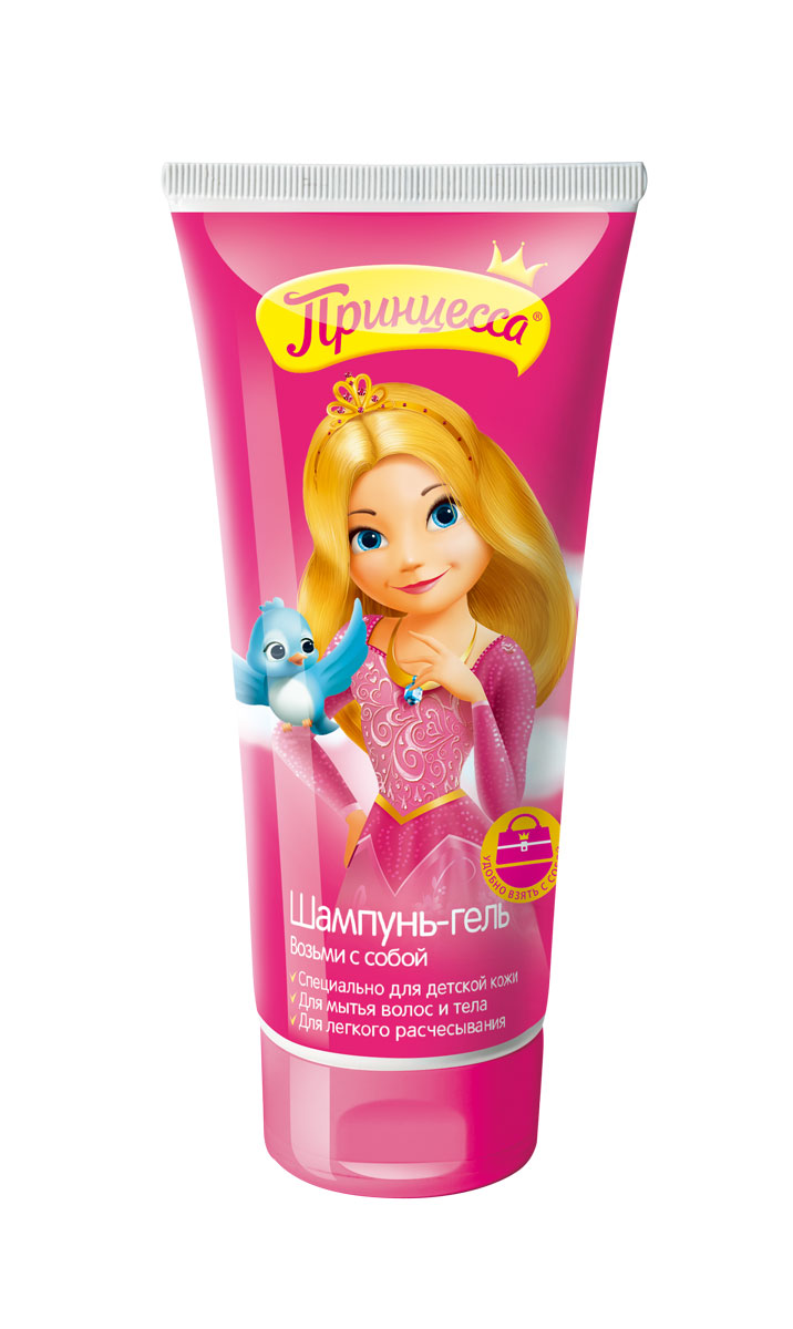 Принцесса Шампунь-гель Возьми с собой 200 мл34337Не содержит SLS и парабенов. Содержит натуральные экстракты. Не сушит волосы и кожу. В удобной упаковке для путешествий!Товар сертифицирован.