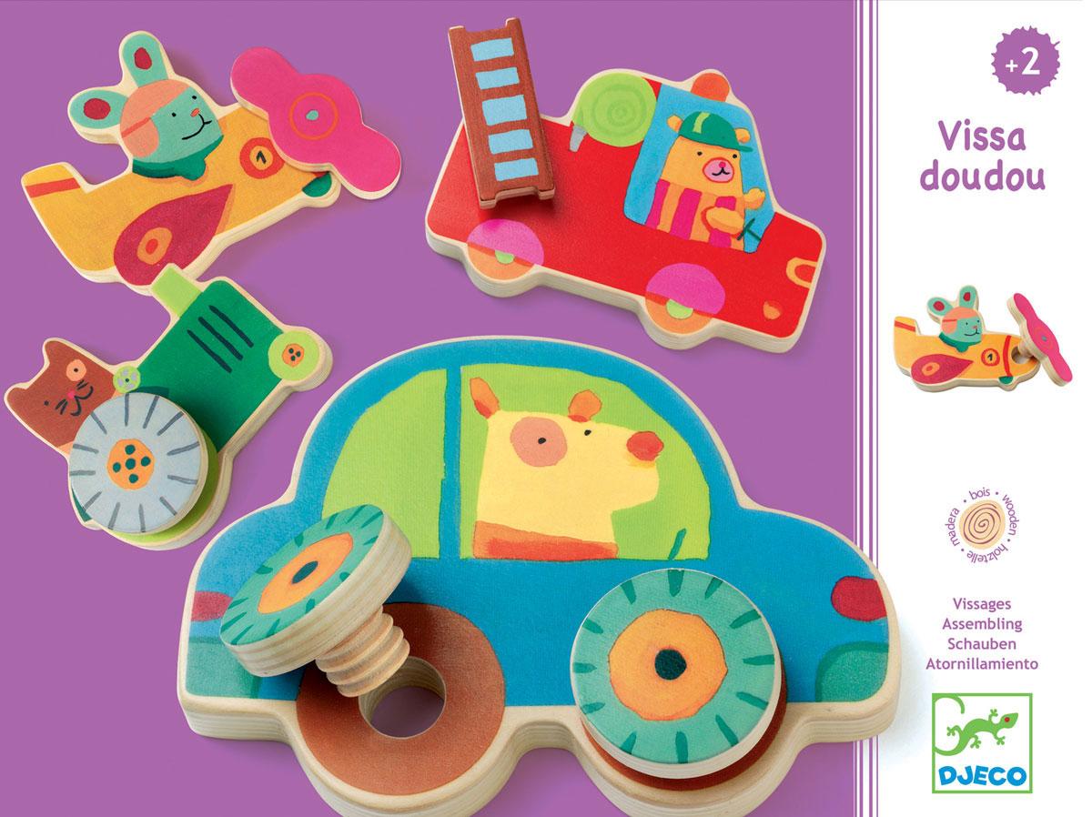 Djeco Развивающая игра Прикрути колесо развивающая игрушка djeco зверюшки попрыгунчики пастель 06105