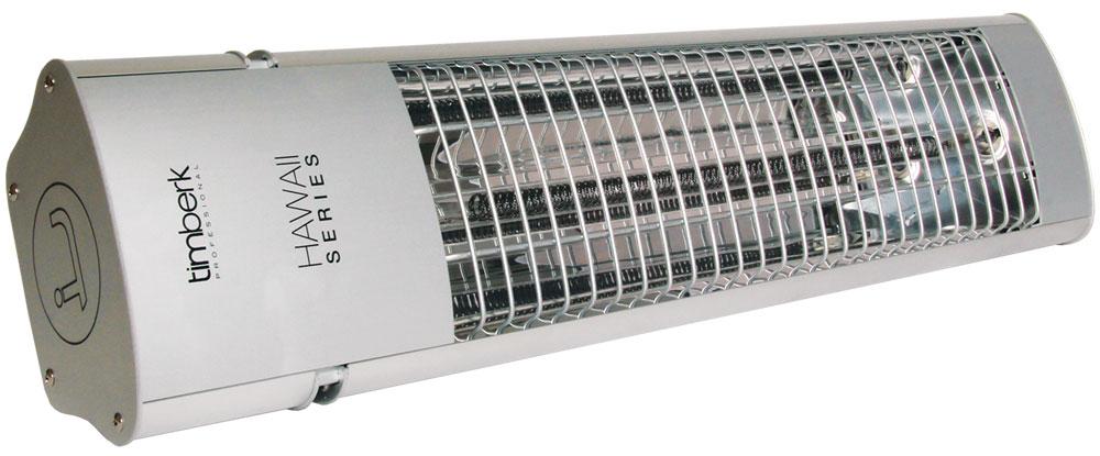 Timberk TIR HP1 1800 инфракрасный электрический обогревательTIR HP1 1800Инфракрасный обогреватель Timberk TIR HP1 1800 рассчитан на обогрев жилых, офисных и производственных помещений. За счет высокой степени защищенности от коррозии возможна установка обогревателя на улице. Монтаж прибора осуществляется на стене. Возможен локальный обогрев площадей и поверхностей предметов.Высокая скорость обогрева помещения за счет моментального выхода и рабочий режимСущественная экономия электроэнергии по сравнению с конвекционным типом обогреваПолная защита от пыли и защита от водяных струй в любом направлении - класс IP65Возможности локального обогрева площадей и поверхностей предметовБезопасное настенное креплениеВозможность регулировки угла наклона обогревателяВысота подвеса: 2,2 м