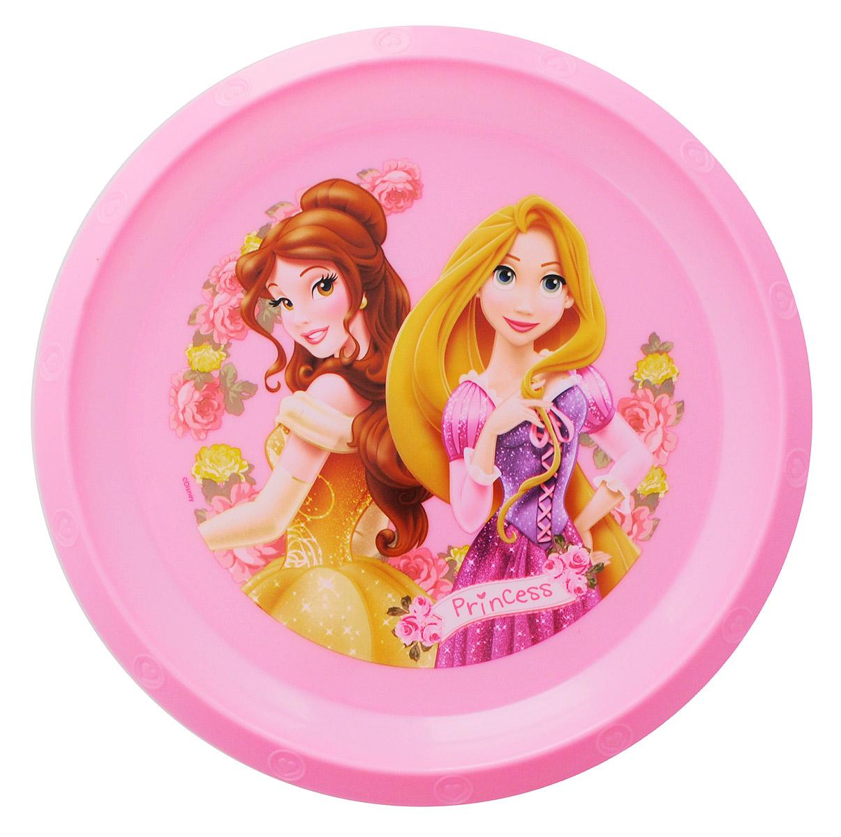 Disney Тарелка детская Принцессы Белль и Рапунцель59212_розовыйДетская тарелка Disney Принцессы Белль и Рапунцель идеально подойдет для кормления малыша и самостоятельного приема им пищи.Тарелка выполнена из безопасного полипропилена, дно оформлено высококачественным изображением принцесс из диснеевских сказок.Такой подарок станет не только приятным, но и практичным сувениром, добавит ярких эмоций вашему ребенку!Тарелка не предназначена для использования в СВЧ-печи и посудомоечной машине.