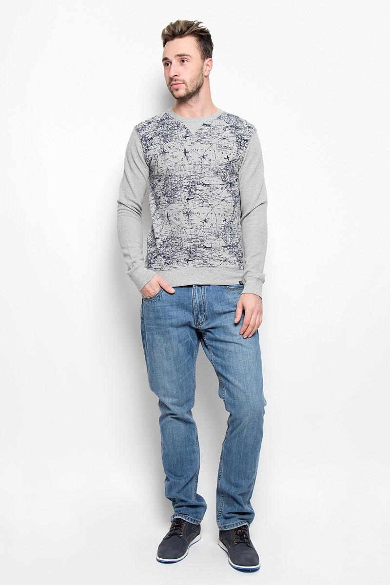 Джинсы мужские Lee Cooper Iconic Arthur, цвет: синий джинс. M10075-0201. Размер 36-34 (48-34)M10075-0201_WN15Стильные мужские джинсы Lee Cooper Arthur из коллекции Iconic - джинсы высочайшего качества, которые прекрасно сидят.Модель прямого кроя и средней посадки изготовлена из натурального хлопка. Застегиваются джинсы на пуговицу в поясе и ширинку на молнии, также имеются шлевки для ремня. Спереди модель дополнена двумя втачными карманами и одним небольшим накладным кармашком, а сзади - двумя накладными карманами. Оформлено изделие контрастной прострочкой и металлическими клепками с названием бренда.Эти модные и в то же время удобные джинсы помогут вам создать оригинальный современный образ. В них вы всегда будете чувствовать себя уверенно и комфортно.