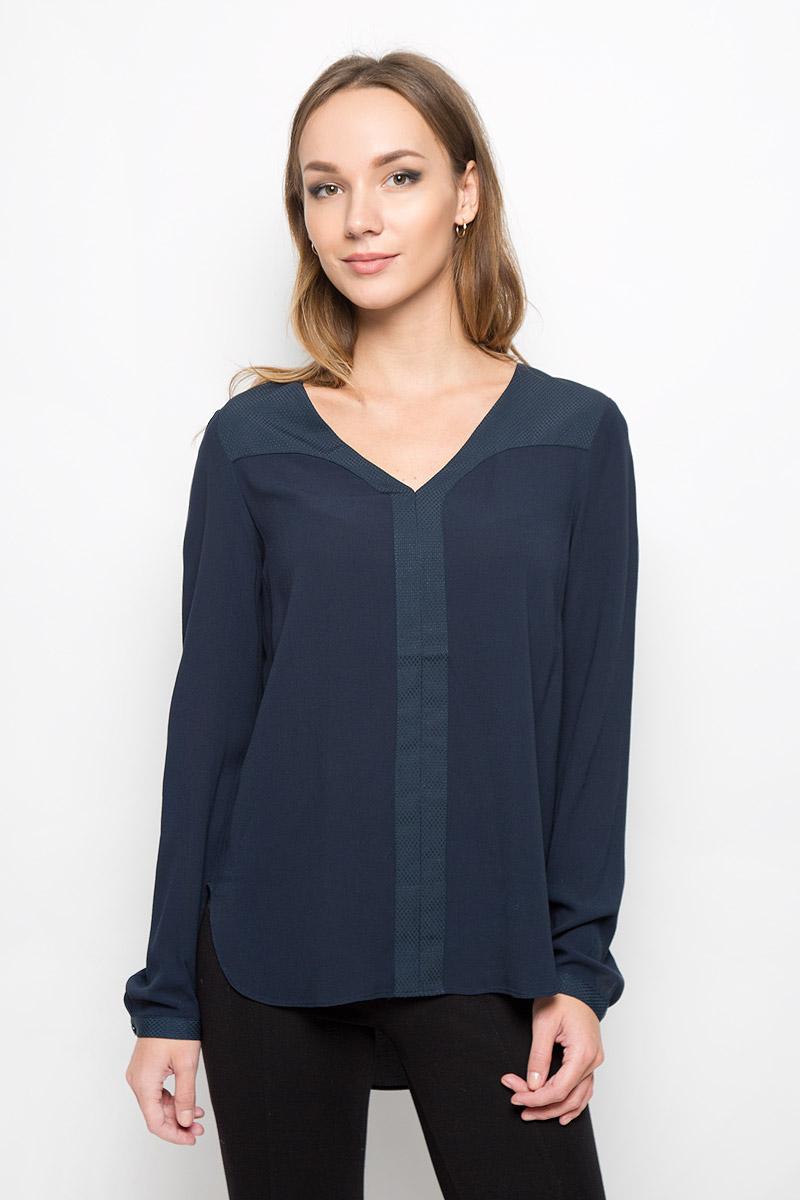 Блузка женская Selected Femme, цвет: синий. 16051898. Размер 38 (44) рубашка женская selected femme цвет молочный 16052017 размер 40 46