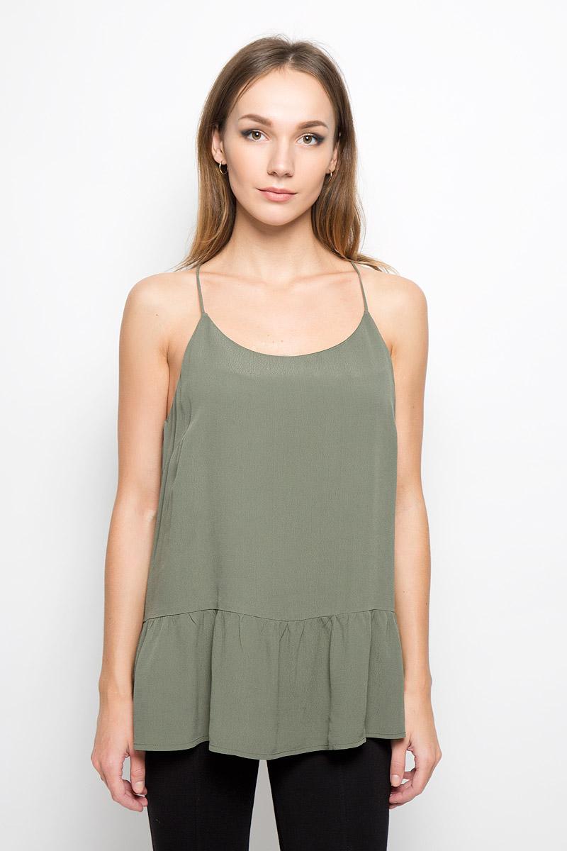 Топ женский Selected Femme, цвет: зеленый. 16050135. Размер 40 (46) женский топ no s xl 2015s t femme p0458