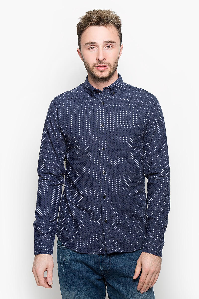 Купить Рубашка мужская Only & Sons, цвет: темно-синий. 22004262. Размер M (46)