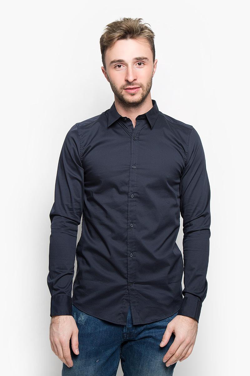 Рубашка мужская Only & Sons, цвет: темно-синий. 22004874. Размер L (48)