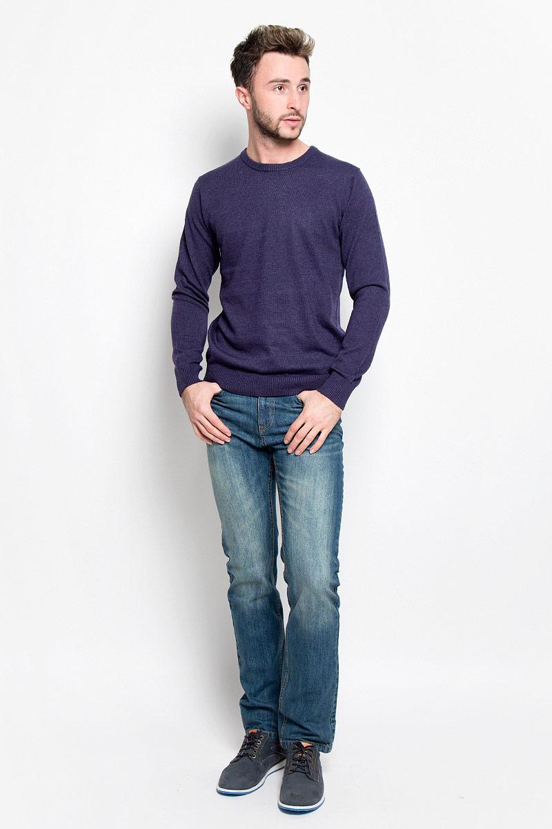 Джемпер мужской Sela, цвет: темно-фиолетовый. JR-214/1007-6415. Размер L (50)JR-214/1007-6415Мужской джемпер Sela, выполненный из мягкого и тактильно приятного материала, идеально дополнит ваш образ в прохладную погоду. Благодаря содержанию шерсти в составе, изделие хорошо сохраняет тело. Джемпер с круглым вырезом горловины и длинными рукавами - идеальный вариант для создания образа в стиле Casual. Вырез горловины, манжеты и низ изделия связаны резинкой, что предотвращает деформацию при носке.Дизайн и расцветка делают этот джемпер стильным предметом мужской одежды. Такая модель подарит вам комфорт в течение всего дня!