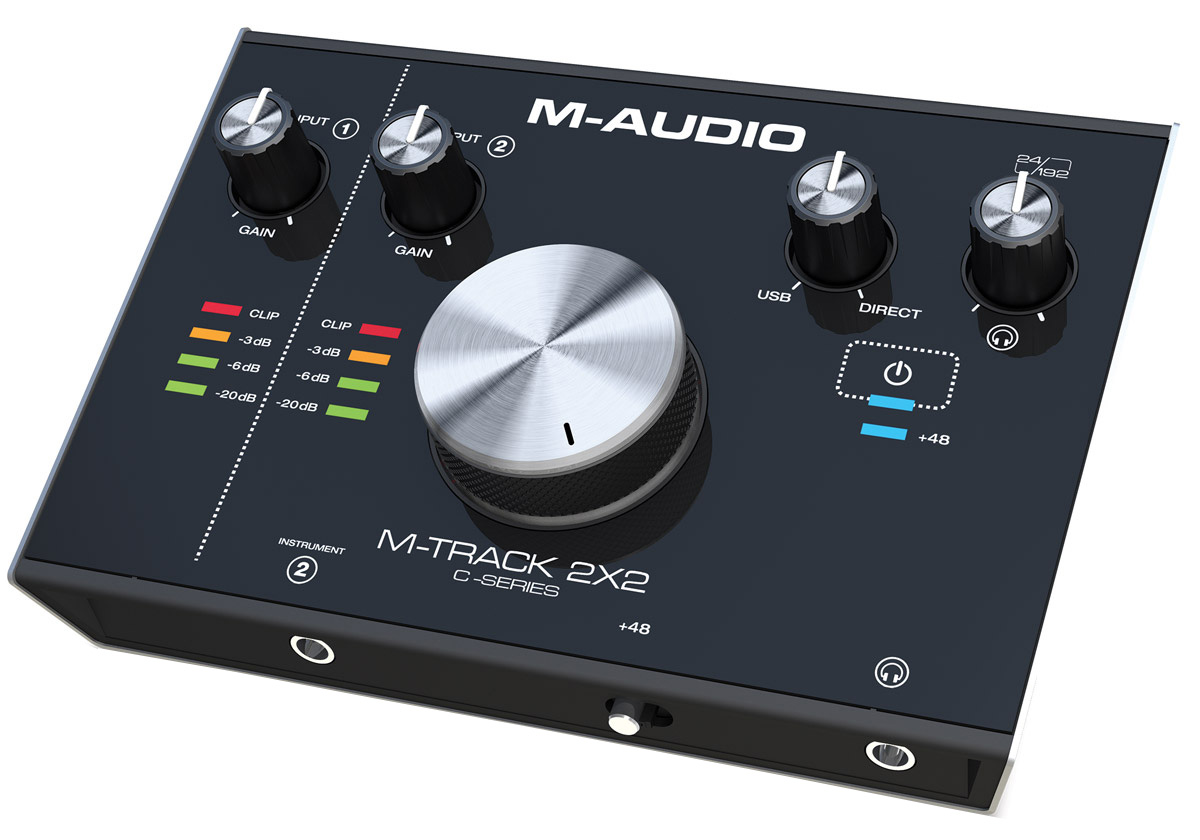 M-Audio M-Track 2X2, Black аудиоинтерфейс комплект для звукозаписи m audio m track 2x2 vocal studio pro
