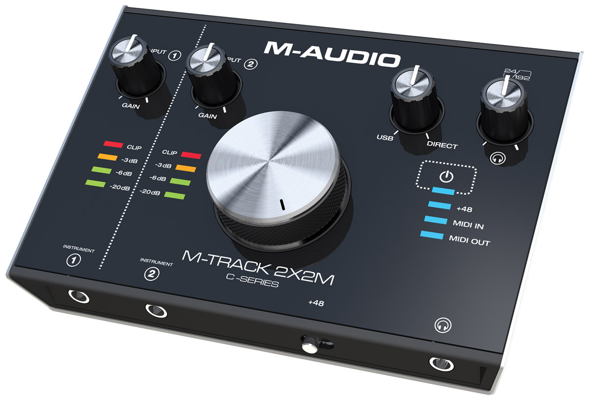M-Audio M-Track 2X2M, Black аудиоинтерфейс комплект для звукозаписи m audio m track 2x2 vocal studio pro