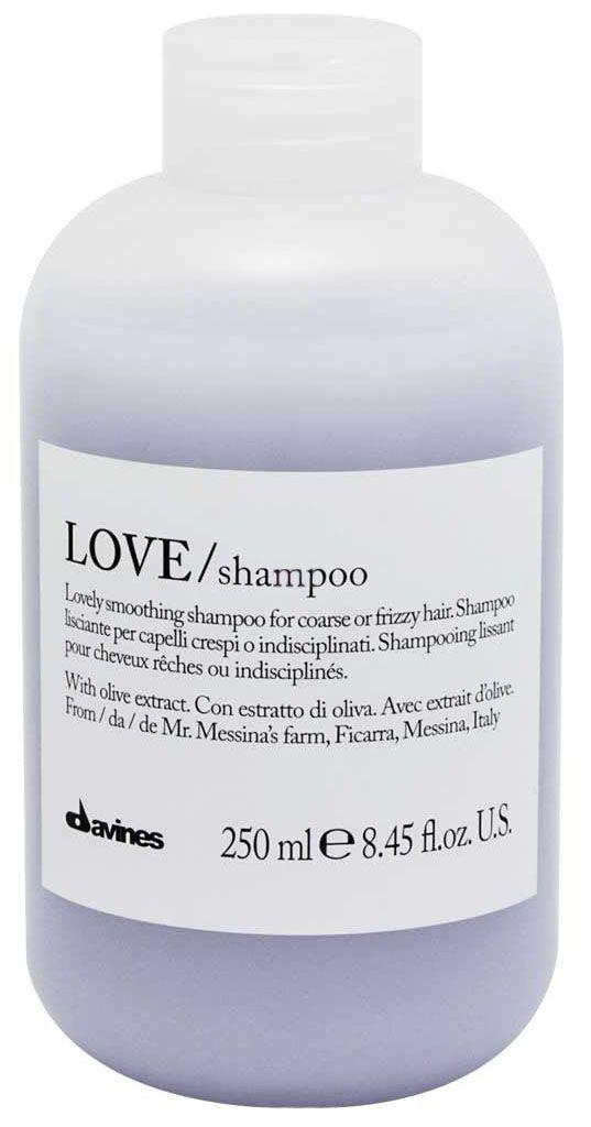 Davines Шампунь для разглаживания завитка Essential Haircare New Love Lovely Smoothing Shampoo, 250 мл75038Особая серия для мягкого очищения кудрявых волос. Активный экстракт миндаля очищает и питает локоны. Богатая важными антиоксидантами формула восстанавливает локоны. Протеины, ненасыщенные жиры, витамины В и Е, магний, калий, железо, медь и фосфор в высокой концентрации обеспечивают благоприятное воздействие на кудри, полностью очищают волосы, дарят им свежесть, гибкость, объем и чистоту.