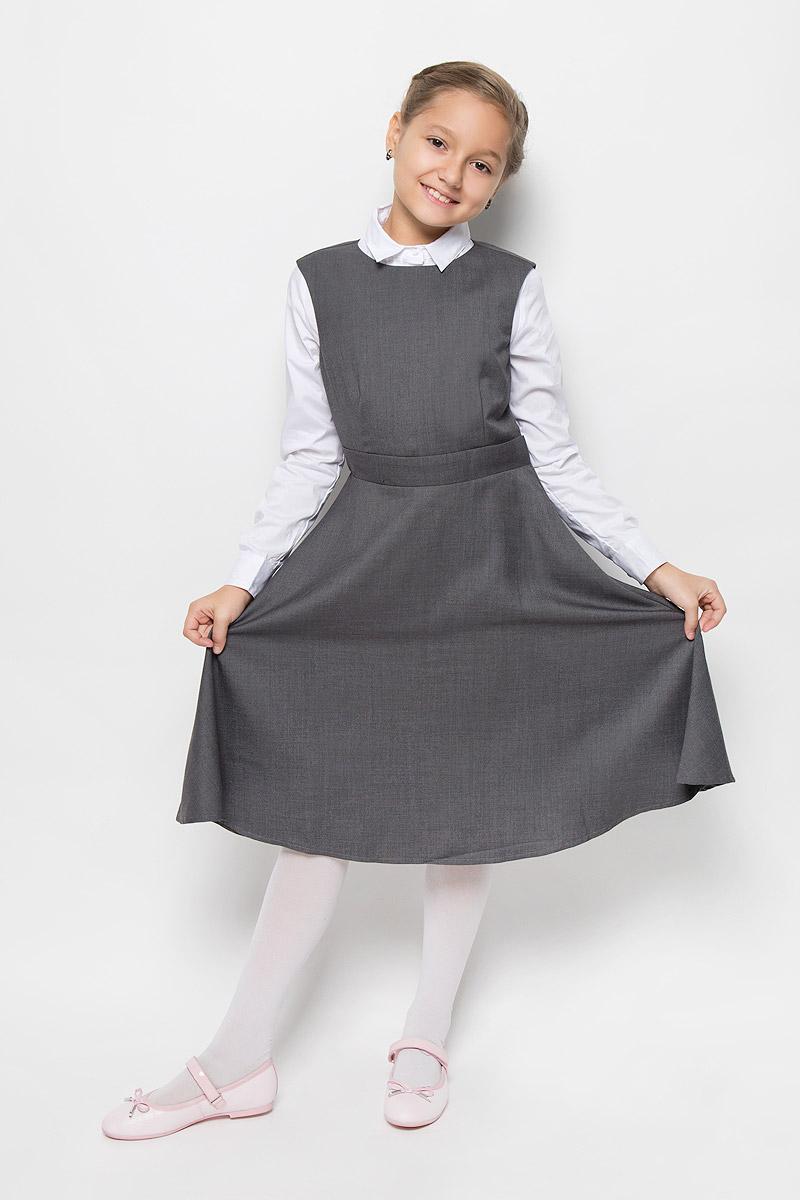Сарафан для девочки Nota Bene, цвет: серый. AW15GS132B-20. Размер 158 платье tutto bene tutto bene tu009ewzwn18