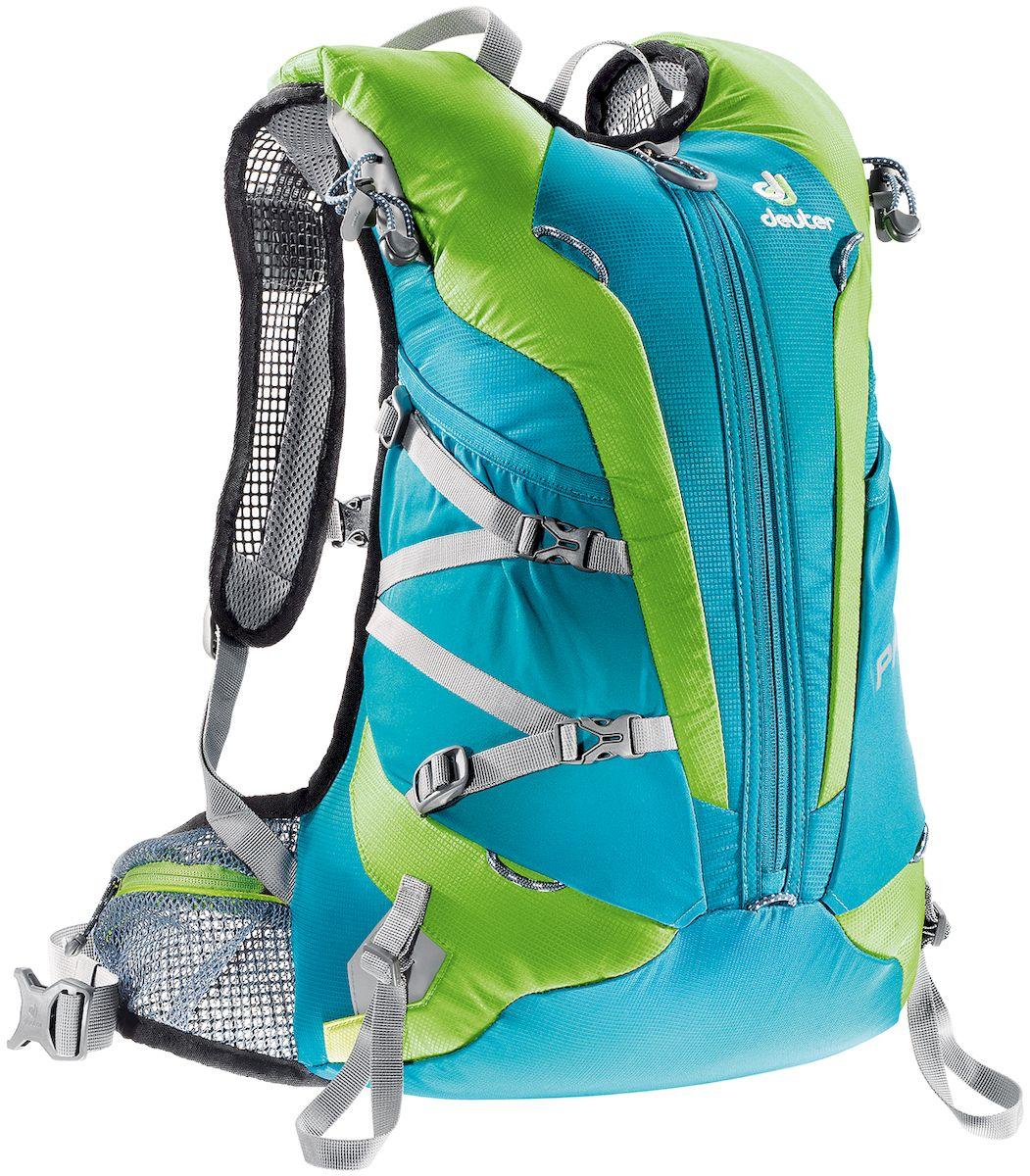 Рюкзак Deuter Pace 20 Petrol-Kiwi, цвет: салатовый, голубой, 20 л велорюкзак с отделением для ноутбука deuter giga bike 28 л 80444 3980 сине голубой