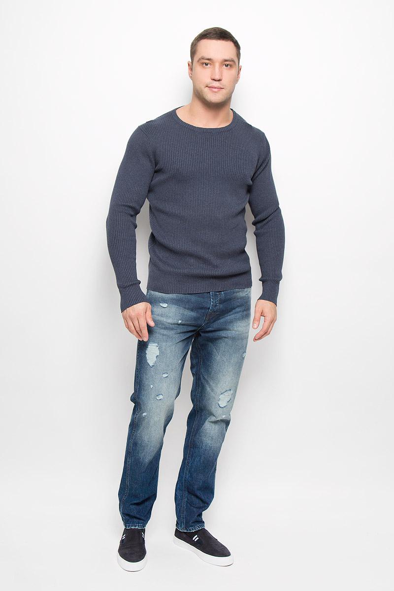 Джемпер мужской Selected Homme Indigo, цвет: темно-синий. 16052188. Размер L (48) пуловер мужской selected homme identity цвет бордовый 16051696 размер l 48