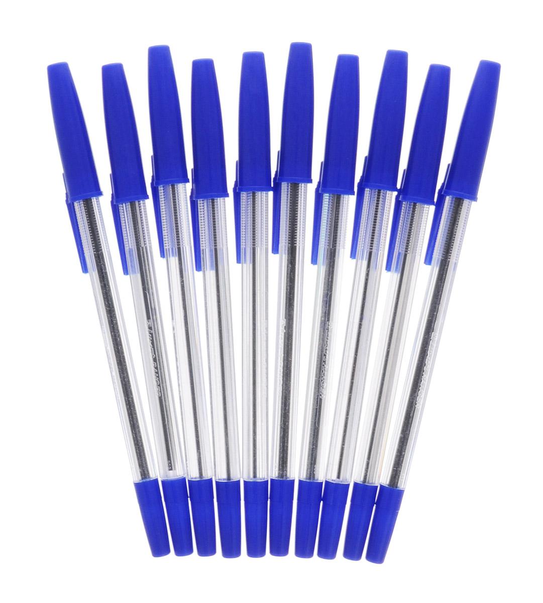 Luxor Набор шариковых ручек Ranger цвет чернил синий 10 шт1202/10CШариковые ручки из набора Luxor Ranger станут незаменимым атрибутом в учебе любого школьника и на работе.В наборе 10 шариковых ручек с колпачками, цвет чернил - синий.