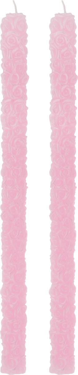 Набор декоративных свечей Win Max Розочки, цвет: розовый, длина 31 см, 2 шт94403Набор декоративных свечей Win Max Розочки представляет собой набор из двух свечей украшенных красивой резьбой в виде роз. Набор упакован в красивую коробку и перевязан лентой. Свечи создают атмосферу уюта и романтики. Яркая свеча будет прекрасным дополнением к вашему празднику. Симпатичный сувенир послужит отличным подарком.Длина свечи: 31 см.Диаметр дна: 1,9 см.