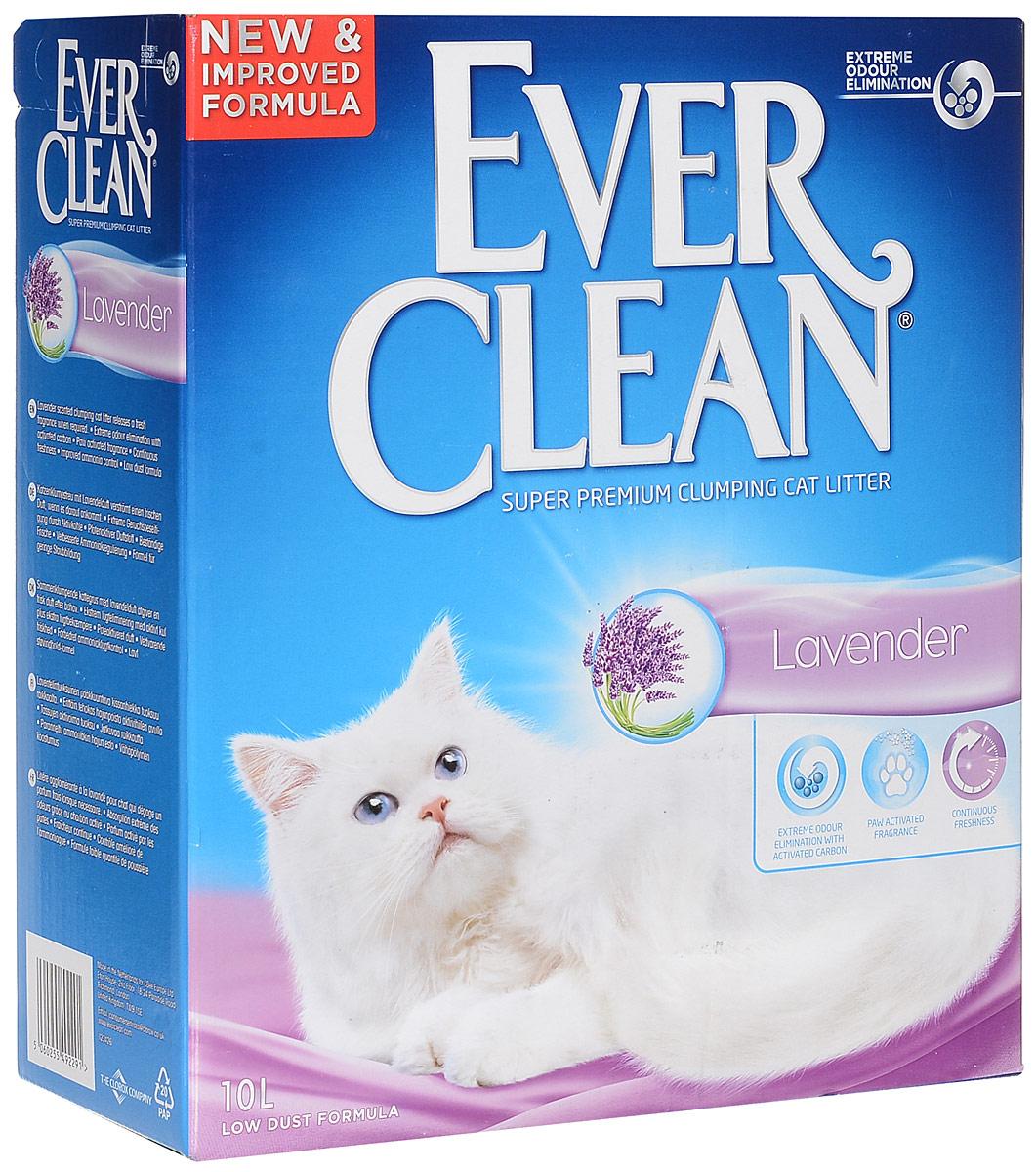 Наполнитель для кошачьего туалета Ever Clean Lavander, комкующийся, с ароматом лаванды, 10 л сумки deuter сумка на плечо deuter 2016 17 tommy l dresscode black б р