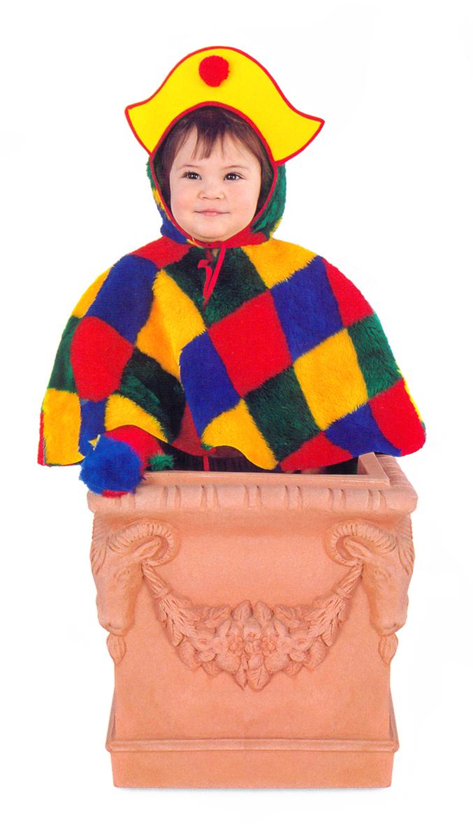 Rio Карнавальный костюм для мальчика Арлекино цвет желтый красный размер 28 (3-4 года) rio карнавальный костюм для девочки царевна цвет белый размер 28 3 4 года