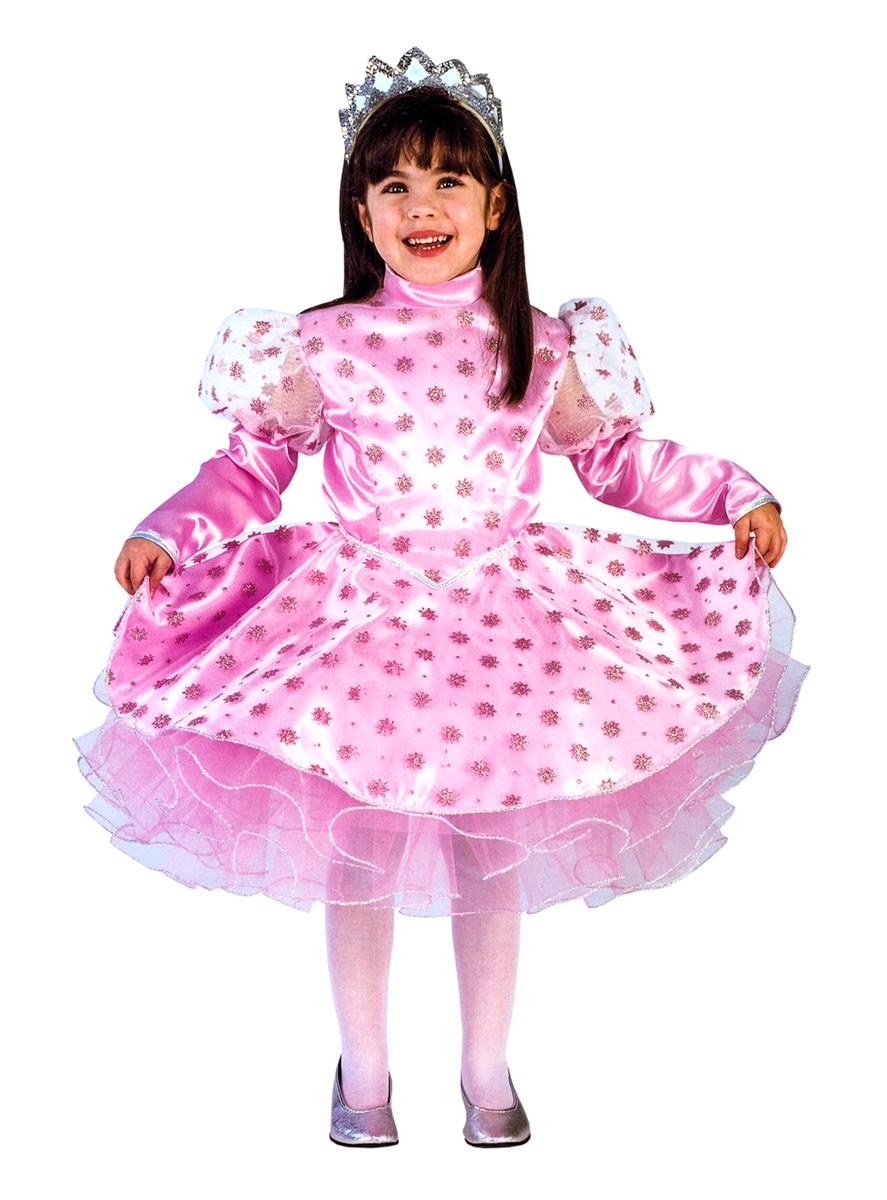 Rio Карнавальный костюм для девочки Снежинка цвет розовый размер 30 (5-6 лет) rio карнавальный костюм для девочки царевна цвет белый размер 28 3 4 года