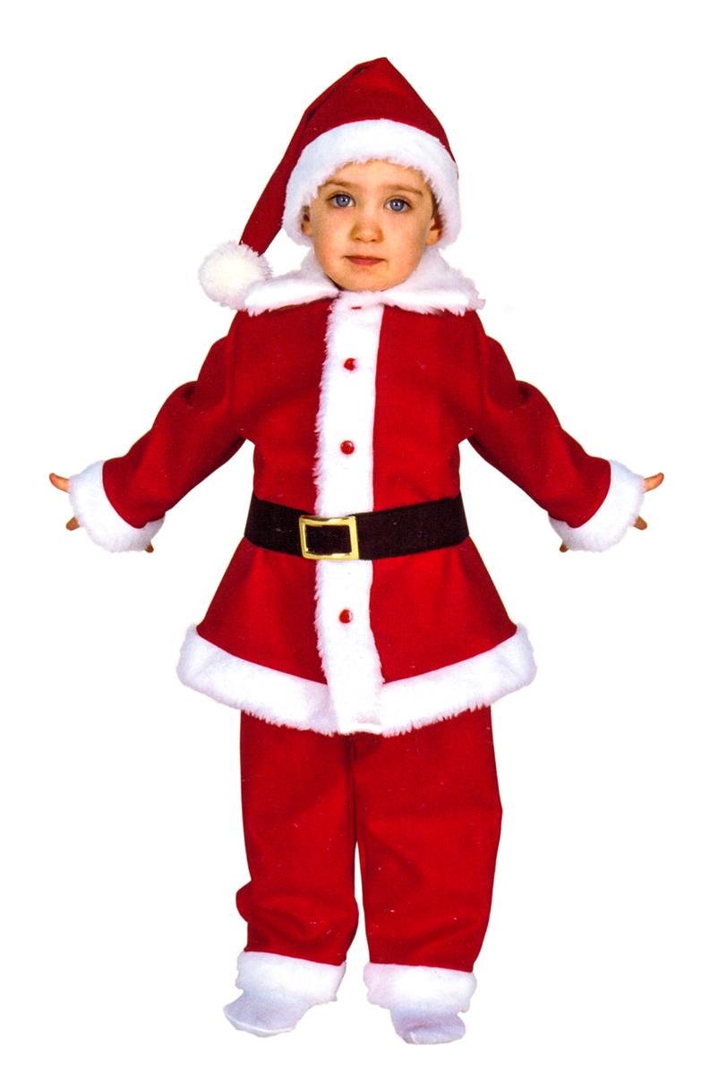 Rio Карнавальный костюм для мальчика Дед Мороз цвет красный белый размер 24 (1-2 года) rio карнавальный костюм для девочки царевна цвет белый размер 28 3 4 года