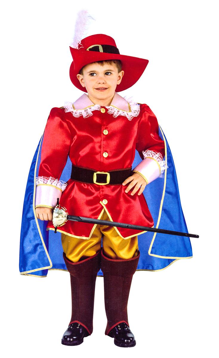 Rio Карнавальный костюм для мальчика Кот в сапогах цвет красный синий размер 28 (3-4 года) -  Карнавальные костюмы и аксессуары