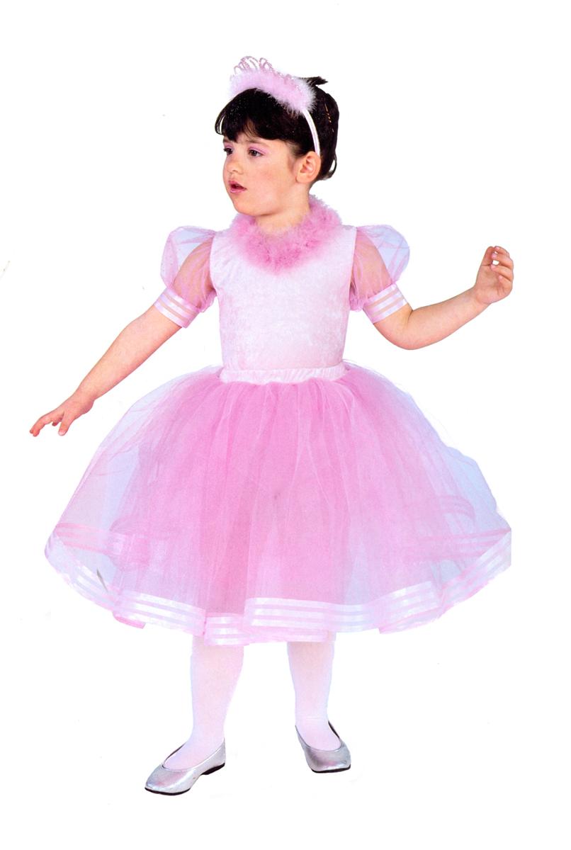 Rio Карнавальный костюм для девочки Балерина цвет розовый размер 34 (7-8 лет) rio карнавальный костюм для девочки царевна цвет белый размер 28 3 4 года