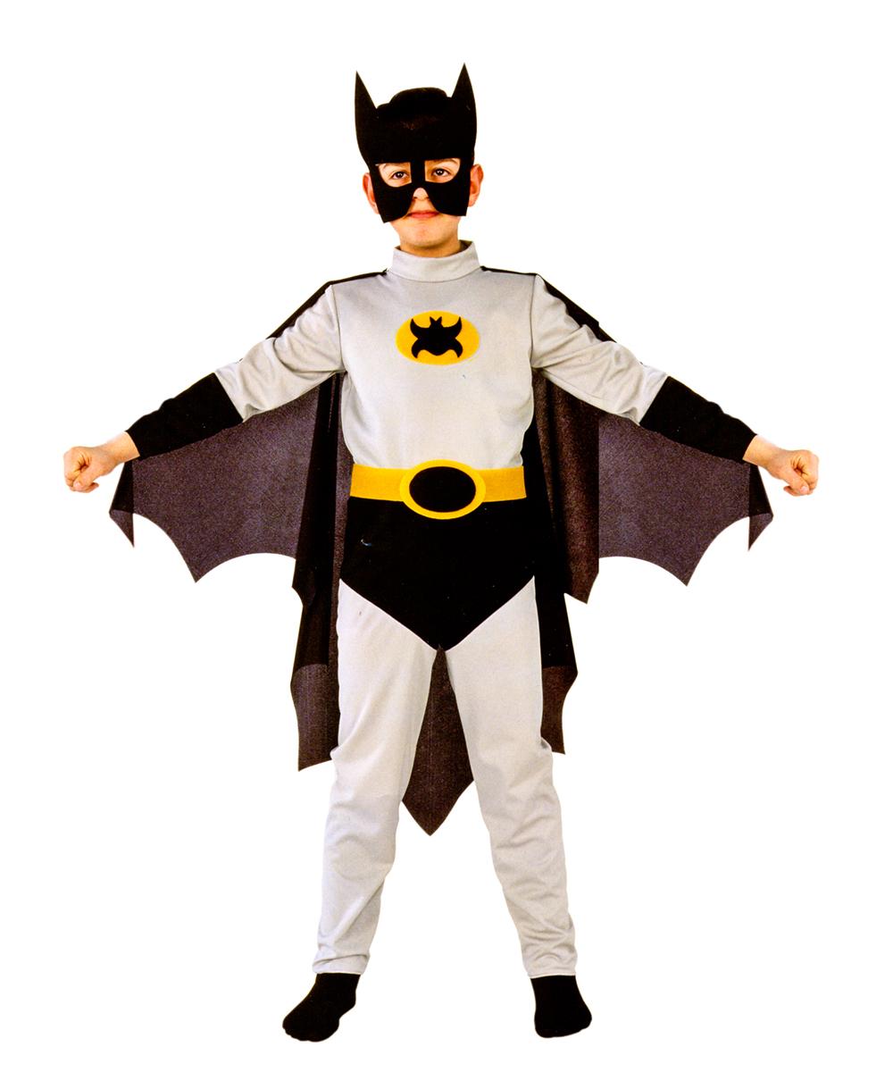 цена Rio Карнавальный костюм для мальчика Бэтмен цвет серый черный размер 34 (7-8 лет) онлайн в 2017 году