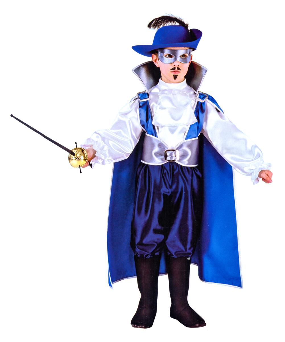 цена Rio Карнавальный костюм для мальчика Железная маска цвет синий белый размер 32 (6-7 лет) онлайн в 2017 году