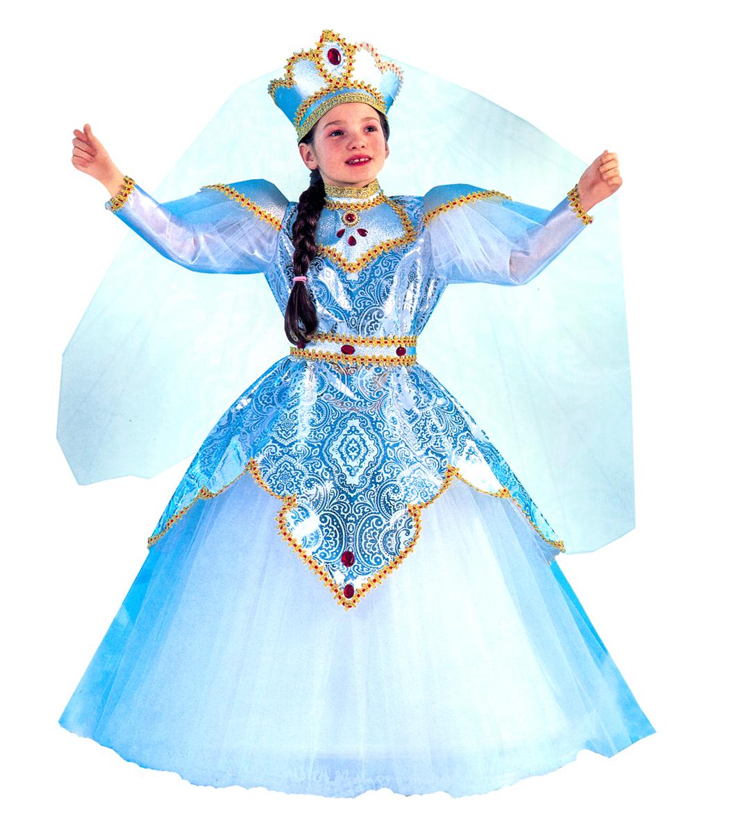Rio Карнавальный костюм для девочки Царевна цвет белый размер 28 (3-4 года) -  Карнавальные костюмы и аксессуары