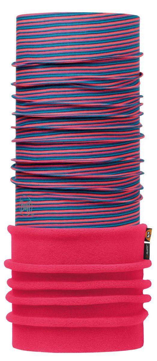 Купить Шарф Buff Polar Pink Fluor Stripes Pink Fluor, цвет: розовый. 113110.522.10.00. Размер 53/62 см
