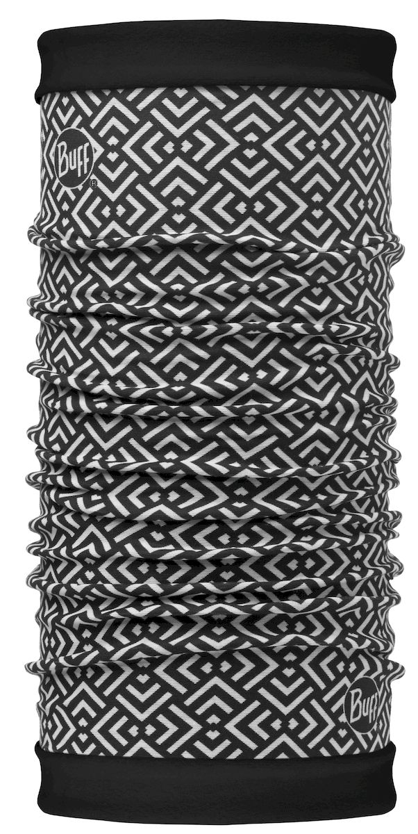 Шарф Buff Reversible Polar Gawa Multi Black-Multi-Standard, цвет: черный. 113135.555.10.00. Размер 53/62 см113135.555.10.00Самым теплым шарфом в виде трубы является именно эта серия Buff Reversible. Бандана-шарф изготовлена в виде трубы высотой 50 см. Снаружи усилена эластичной тканью из полиэстера, на который нанесен красочный узор, а внутри по всей поверхности утеплена мягким и теплым флисом. Такую бандану-трубу можно использовать в качестве шарфа, маски на лицо и даже шапки. Подходит для средней и низкой активности или для занятий спортом в холодное время года, особенно если эти занятия связаны с периодами отдыха. Например, при катании на сноуборде, горных лыжах или просто прогулках в сильный мороз.