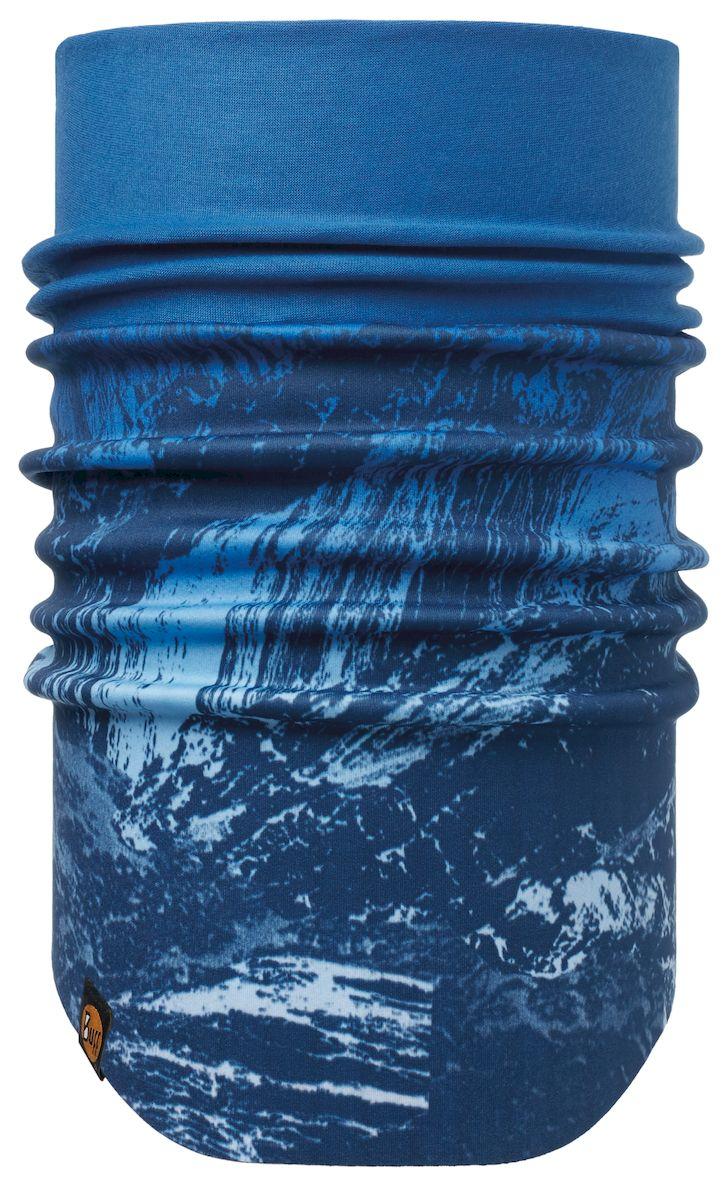 Шарф Buff Windproof Neckwarmer Mountain Bits Blue-Blue-Standard, цвет: синий. 113242.707.10.00. Размер 53/62 см113242.707.10.00Шарф с мембраной Windstopper. Высокая степень защиты от ветра и непогоды. Подходит для катания и активного отдыха.