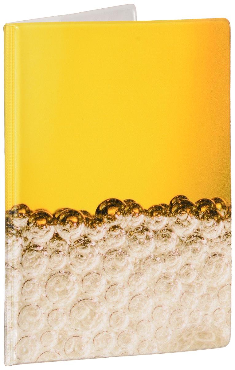 Обложка для паспорта мужская Эврика Пиво, цвет: желтый, бежевый. 92610 обложка для паспорта мужская sergio