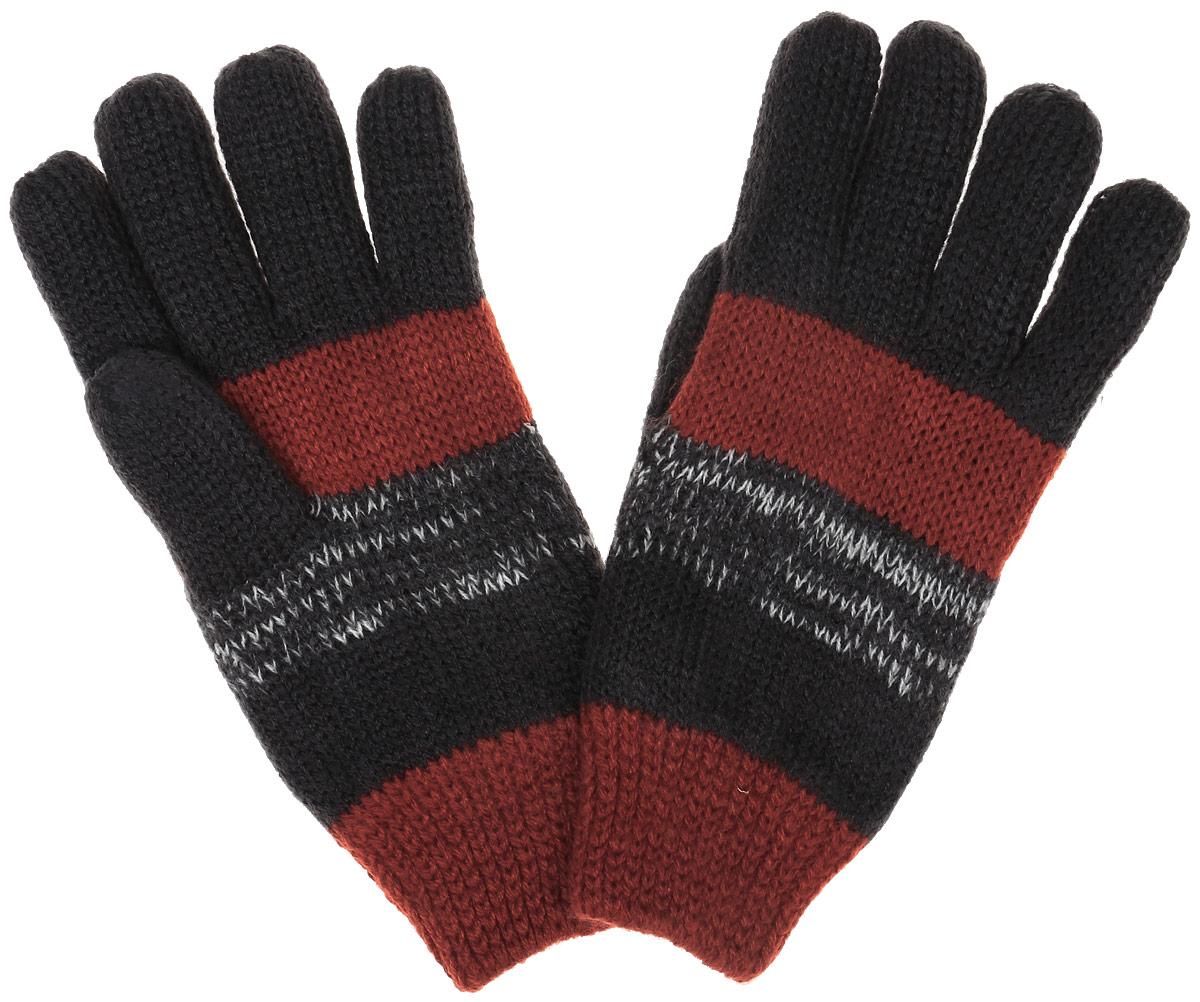 Перчатки для мальчика Sela, цвет: терракотовый, темно-серый. GL-743/051AM-6302. Размер 16GL-743/051AM-6302Вязаные перчатки для мальчика Sela идеально подойдут для прогулок в прохладное время года. Изготовленные из акрила, они необычайно мягкие и приятные на ощупь, не сковывают движения и позволяют коже дышать, не раздражают нежную кожу ребенка, обеспечивая ему наибольший комфорт, хорошо сохраняют тепло.Перчатки дополнены широкими эластичными манжетами, не стягивающими запястья и надежно фиксирующими их на ручках ребенка. Манжеты связаны крупной резинкой. Оформлены перчатки принтом в полоску. Оригинальный дизайн и расцветка делают эти перчатки модным и стильным предметом детского гардероба. В них ваш ребенок будет чувствовать себя уютно, комфортно и всегда будет в центре внимания!