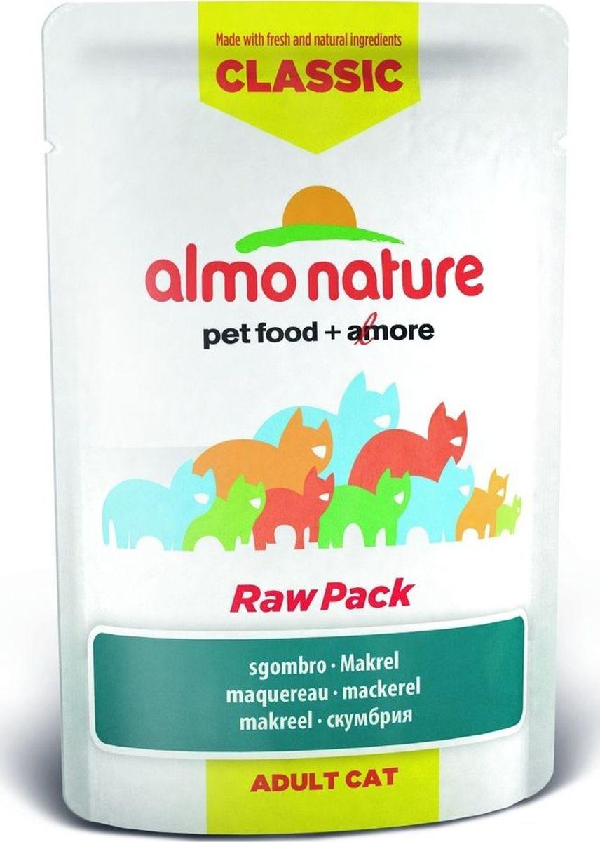 Консервы для кошек Almo Nature Classic, cо скумбрией, 55 г консервы для щенков almo nature classic с курицей 280 г