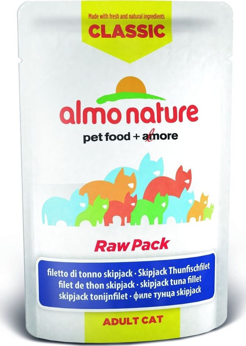 Консервы для кошек Almo Nature Classic Raw Pack, филе полосатого тунца, 55 г интернет магазин g star raw