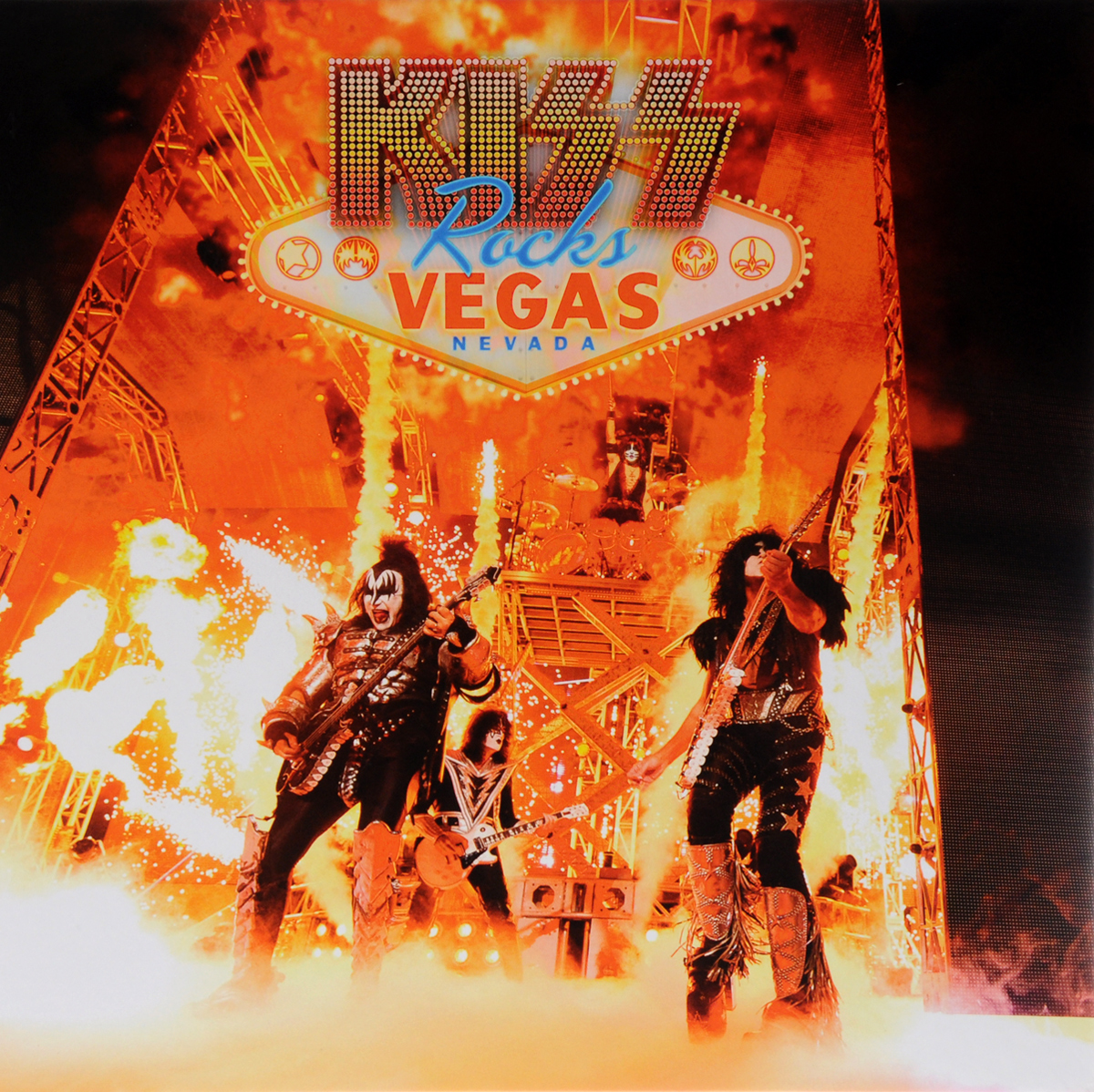 Kiss Kiss. Rocks Vegas (2 CD + DVD + Blu-Ray) lucky family digital sports watch red led time and date display