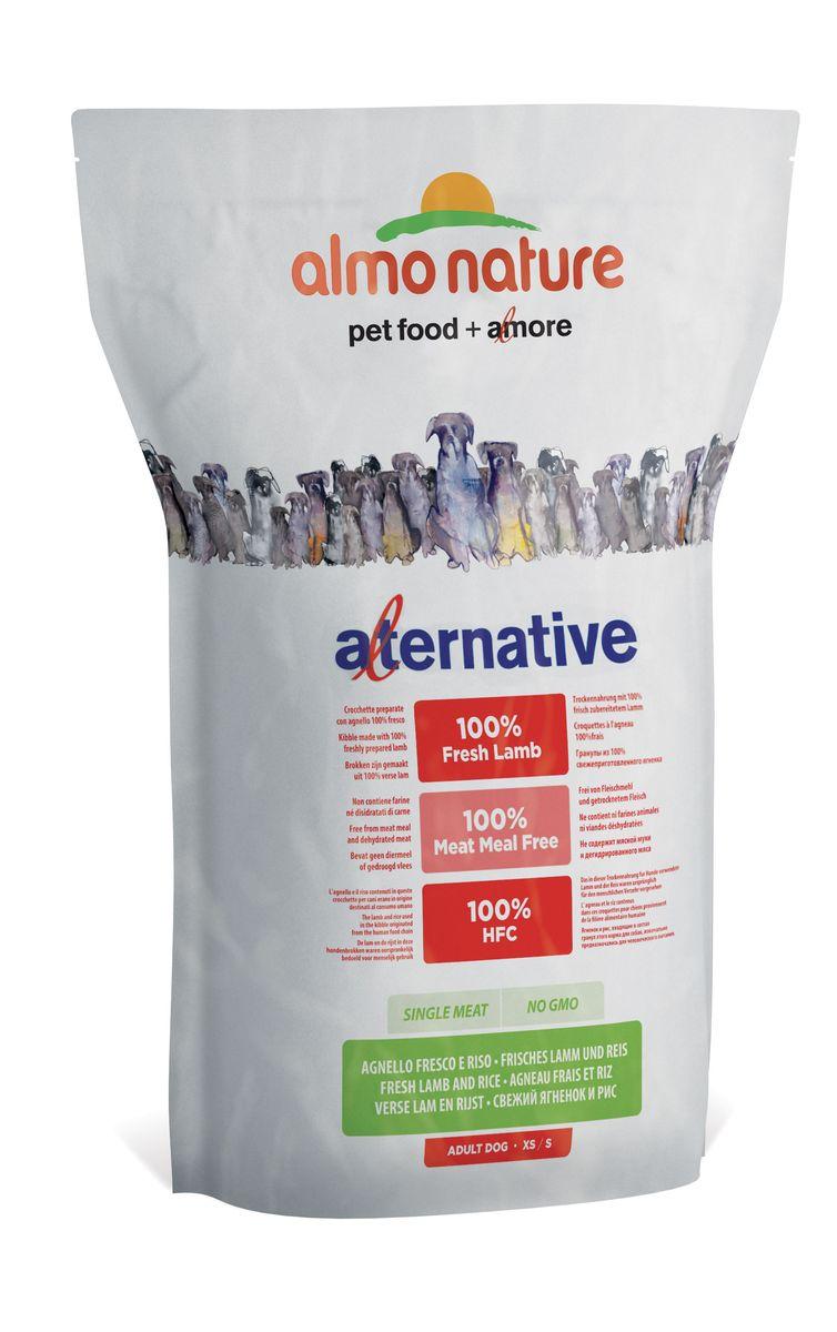 """Корм сухой Almo Nature """"Alternative"""" для собак карликовых и мелких пород, с ягненком и рисом, 3,75 кг"""