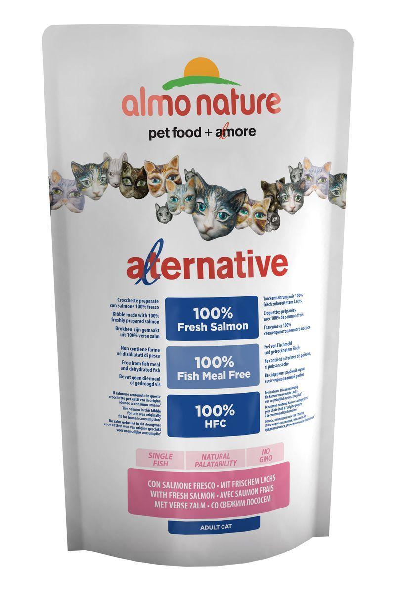 Корм сухой Almo Nature Alternative, для кошек, с лососем и рисом, 750 г корм сухой наша марка для привередливых кошек с лососем и рисом 400 г
