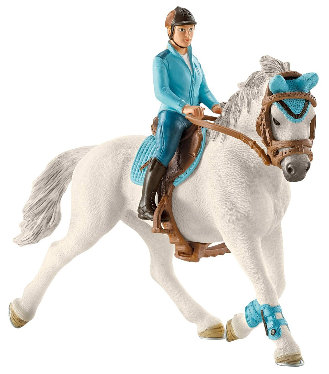 Schleich Набор фигурок Всадница на лошади schleich корм для коров и телят
