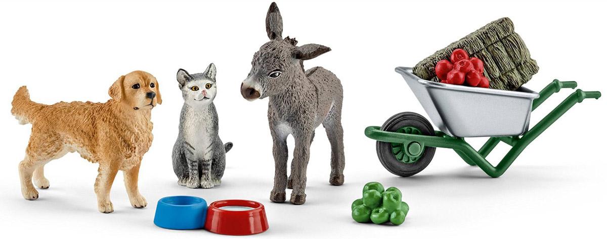 Schleich Набор фигурок Кормление на ферме 3 шт schleich набор аксессуаров для фигурок кормление и уход за животными