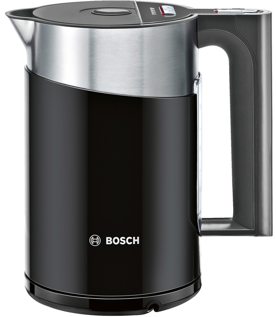 Bosch TWK 861P3RU электрочайникTWK 861P3RUЭлектрочайник Bosch TWK 861P3RU для любителей чая и ценителей эстетики. Регулировка температуры TemperatureControl позволяет выбрать оптимальную температуры нагрева воды 70°C, 80°C, 90°C или 100 °С.Функция поддержания температуры воды KeepWarm Function поддерживает заданную температуру в течение 30 минут. Легкий в управлении: крышка открывается нажатием кнопки.