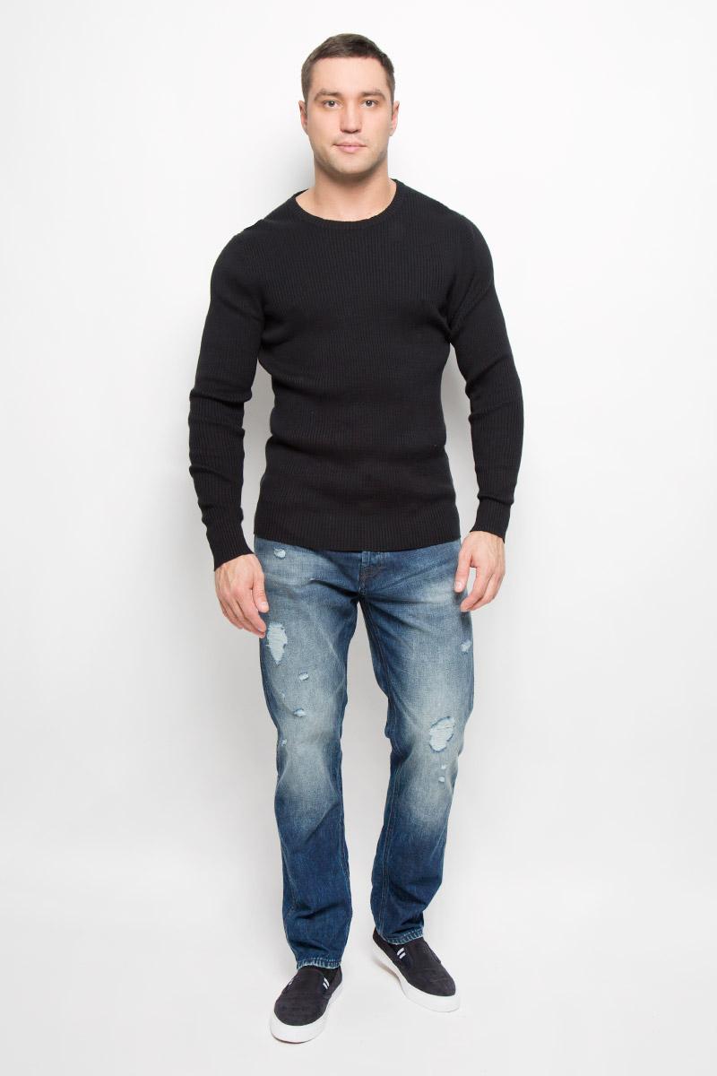 Джемпер мужской Selected Homme Indigo, цвет: черный. 16052188. Размер XL (50) водолазка мужская selected homme цвет серый 16053105 размер xl 50